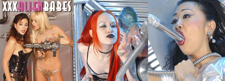 Xxx Alien Babes in Lesbian Sex